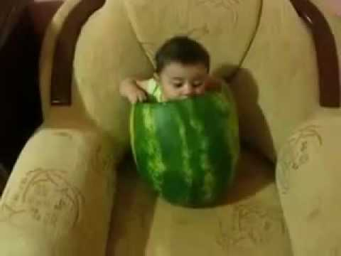 baby eating watermelon | Cute baby eats a melon  |  Funny Baby Video
