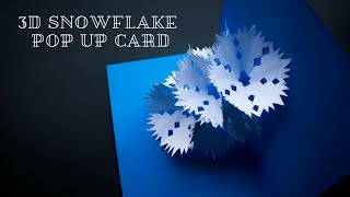 Snowflake - 3D Snowflake Pop Up Card - Paper Snowflake - Tutorial - DIY  - TheCrafty Tube :)