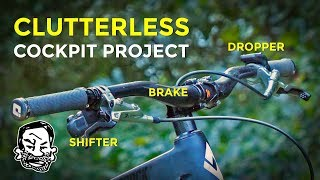 Clutterless MTB Cockpit with Wireless Shifting and Dropper! | Barspin Ready