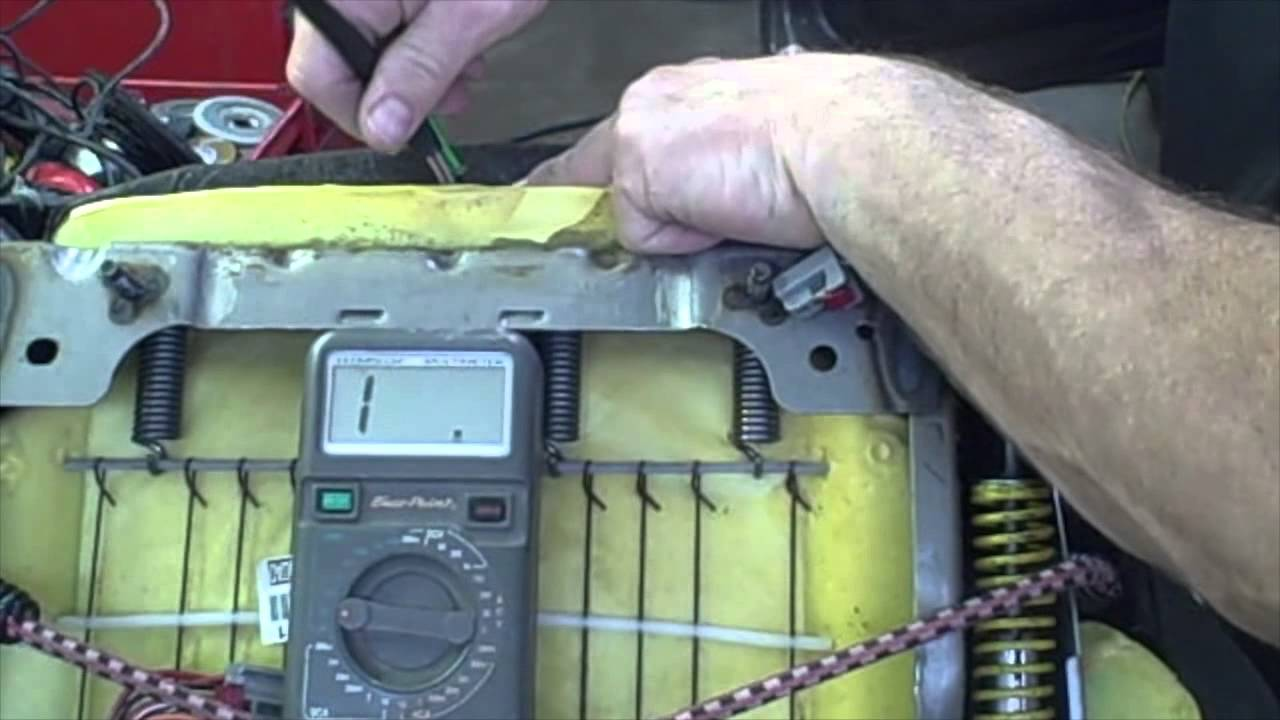 how to replace the heating seats module