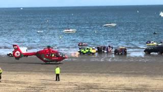 Abersoch beach accident, air ambulance, the warren