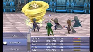 Final Fantasy IV - Battle with the Four Fiends - Gameplay Demo