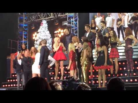 """Cast of The Big Reunion performing live on """"The Big Reunion Christmas Party"""" tour live at the Capital FM Arena, Nottingham. 11th December 2013. Text Santa charity single."""
