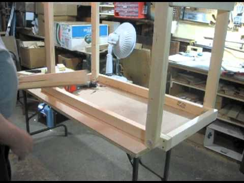 how to make wood folding table
