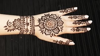 Floral Henna Pattern - Spring Mehendi Design - Pretty Flowers Mehndi Tattoo