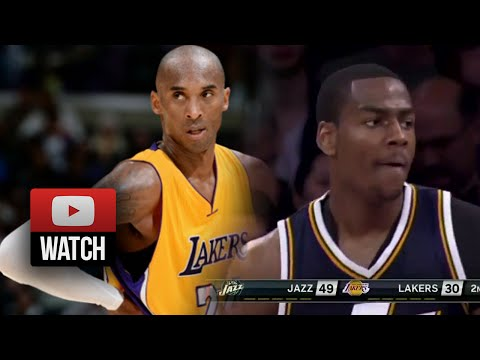 Kobe Bryant vs Alec Burks Duel Highlights Lakers vs Jazz (2014.10.19) - SICK!