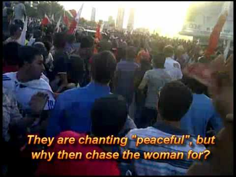 Shia sectarian protestors attack sunni woman in Bahrain