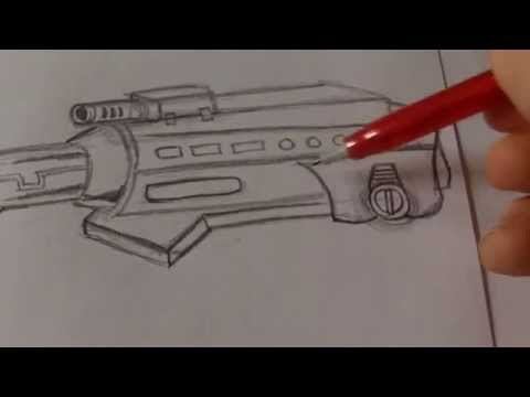 How To Draw A Robot Gun