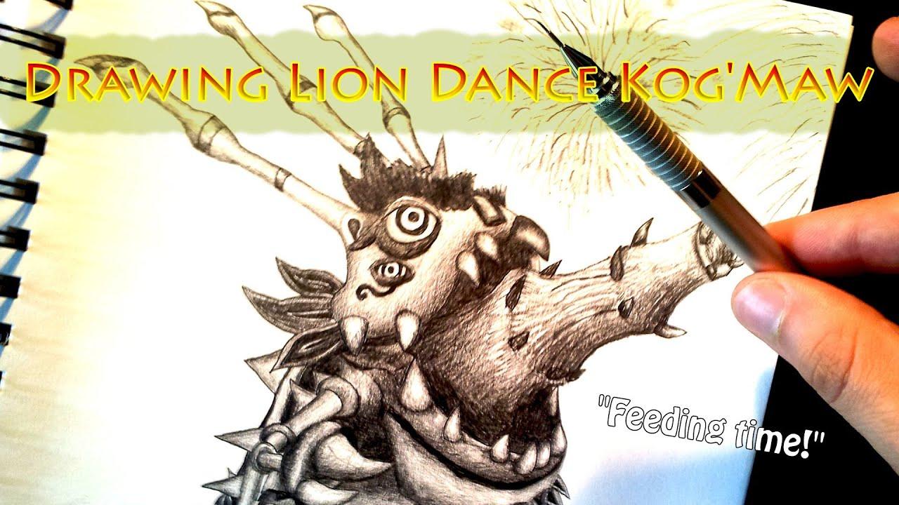 Lion Dancing Drawing Drawing Lion Dance Kog'maw