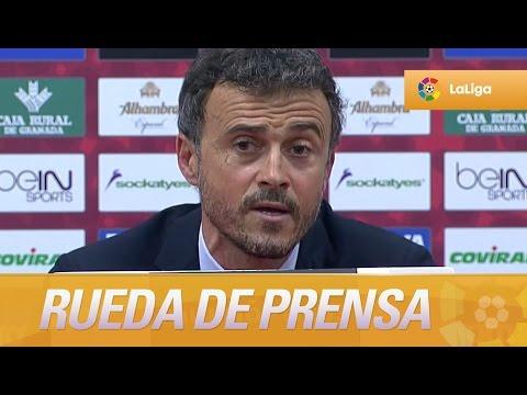 Rueda de prensa de Luis Enrique tras el Granada CF (0-3) FC Barcelona