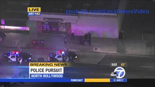 Police Chase - North Hollywood, CA August 20. 2013