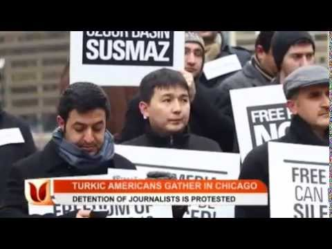Turkic-Americans Protest Journalists' Detentions