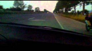 BMW E36 328 coupe turbo vs R6 600cc 130hp & SUZUKI