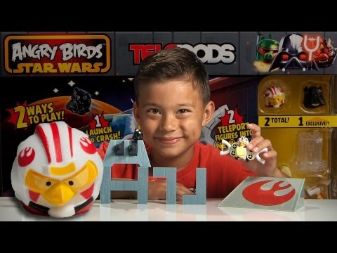 DEATH STAR TRENCH RUN - Angry Birds Star Wars II TELEPODS WEEK - Day 1
