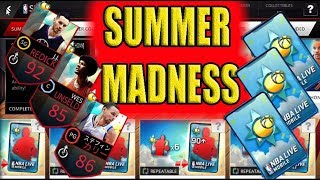 SUMMER MADNESS PROMO! TRY THIS IF YOU ARE BORED WITH NBA LIVE MOBILE!