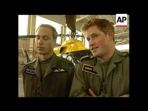 Britain's Prince William and Prince Harry talked about their potential future roles in the Royal Air