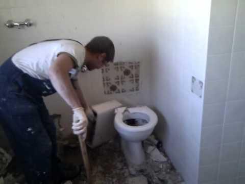 Демонтаж унитаза.3gp - видео на Krivoruky.Ru