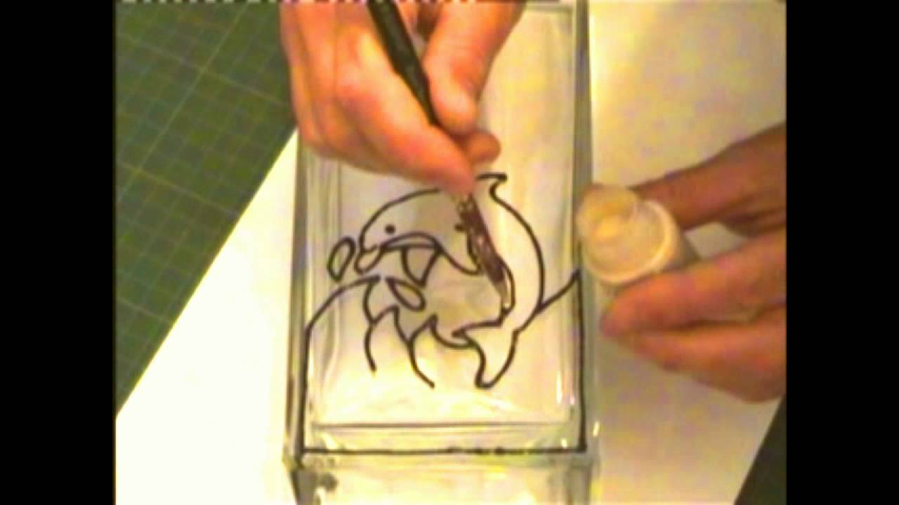 Glass Painted Dolphin Vase YouTube