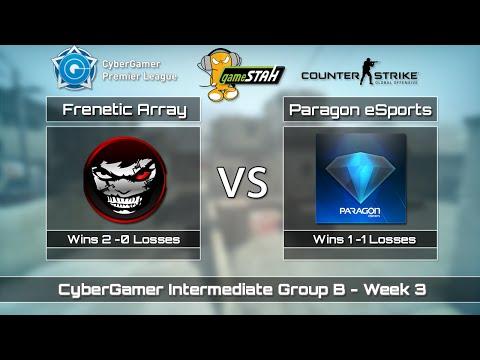 CSGO CGi Group B - Frenetic Array vs. Paragon eSports Map 1 [CACHE]