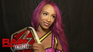 An emotional Sasha Banks celebrates her second Raw Women's Title win: Raw Fallout, Oct. 3, 2016