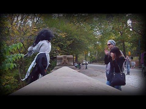Halloween Scare Prank in Central Park w/ Bad Girls Ball (Public Prank S01E08)
