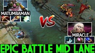 Miracle- Invoker VS Matumbaman Sniper Epic Battle Physical Vs Magic 7.21 Dota 2