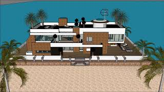 SIMS 5 LUXURY FLOATING VILLA DESIGN ON WATER BUILDING A HOME UPGRADES FREEPLAY Luxury Yacht and Hous