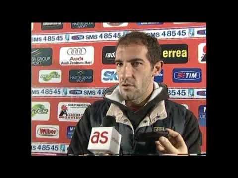 Intervista a Cristian Stellini(difensore del Bari), intervistato in sala stampa, alla fine della seduta di allenamento.