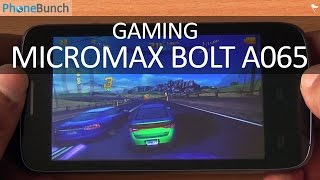 Micromax Bolt A065 Gaming Review