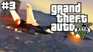 Stealing a Fighter Jet in Grand Theft Auto 5 (GTA 5 Live Stream #3)