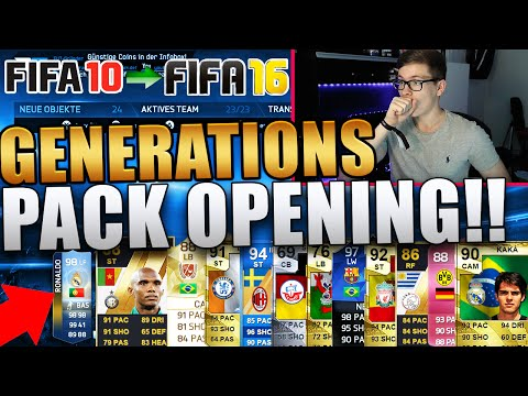 OMG GENERATIONS PACK OPENING! - FIFA 16: ULTIMATE TEAM (DEUTSCH) - ERINNERUNGEN PUR!