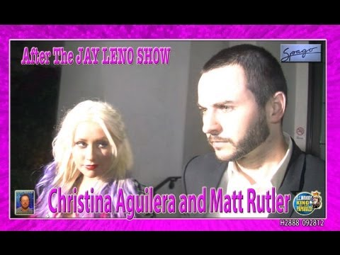 Christina Aguilera & Matt Rutler After Leno Show at Spago H2888