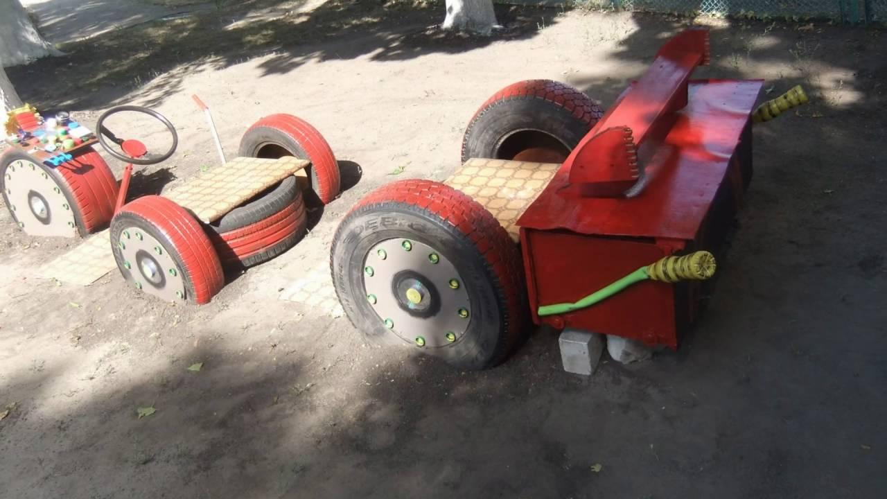 Поделки из колёс от машин 81