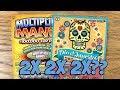 2X 2X 2X?? 2X $5 Multiplier Mania + 2X $5 Día De Los Muertos ✦ TEXAS LOTTERY Scratch Off Tickets