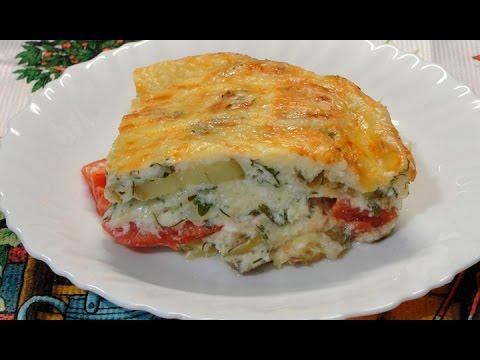 Овощная запеканка из баклажанов (кабачков) и помидор с сыром