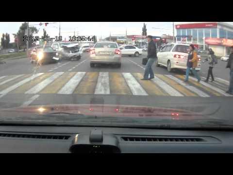 ДТП 1.10.2014г время 8-00 Краснодар, ул. Дзержинского и Кореновская