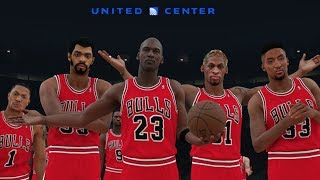 NBA 2K18 All Time Chicago Bulls Screenshot!