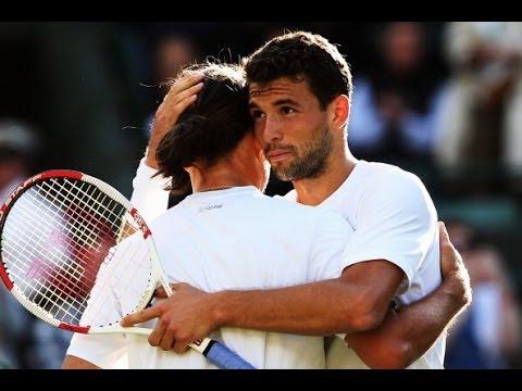 Grigor Dimitrov vs Alexandr Dolgopolov Wimbledon 2014 Full Match Part 3