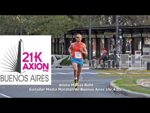 Atleta Matias Roht  Ganador Media Maraton de Buenos Aires 06 setiembre 2015