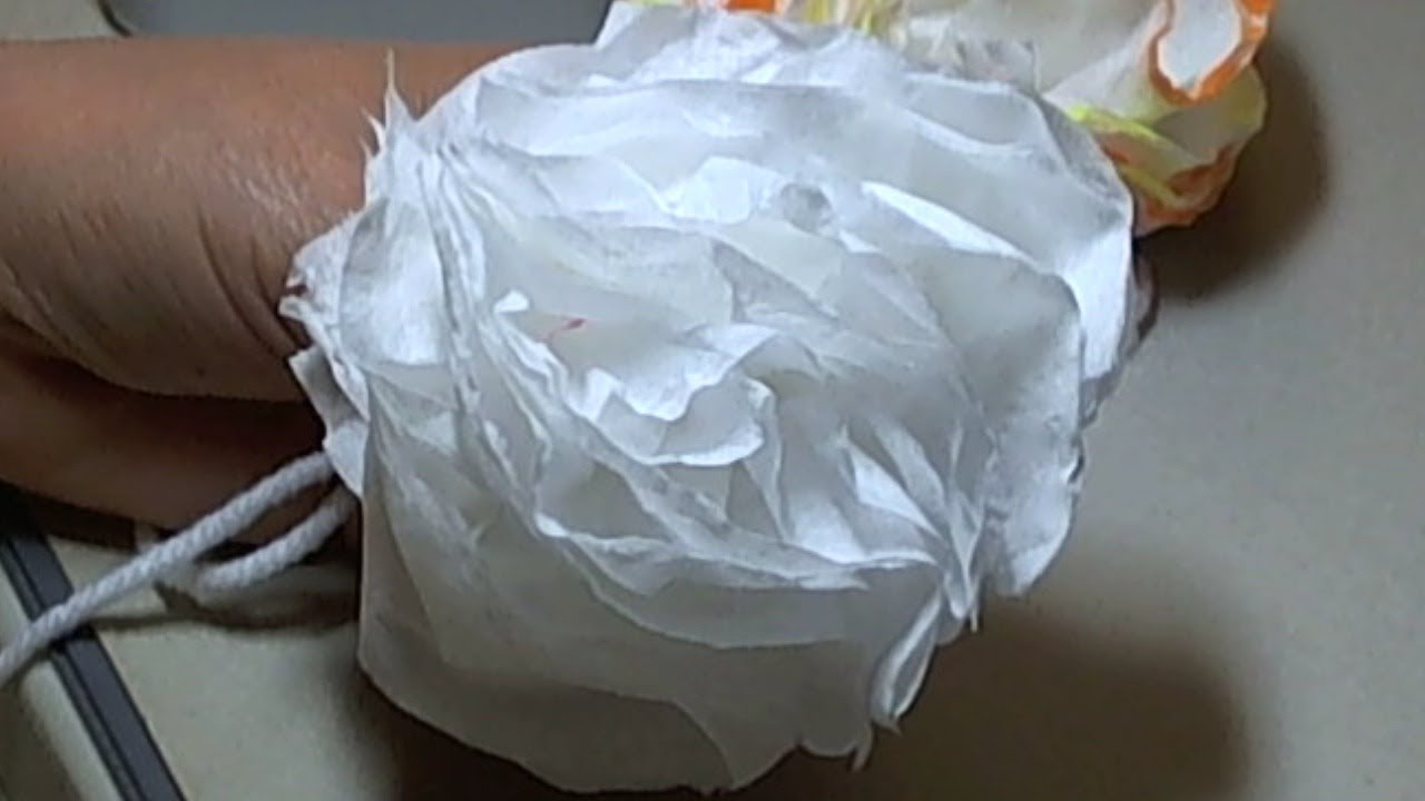 how to make a vintage style toilet paper flower youtube