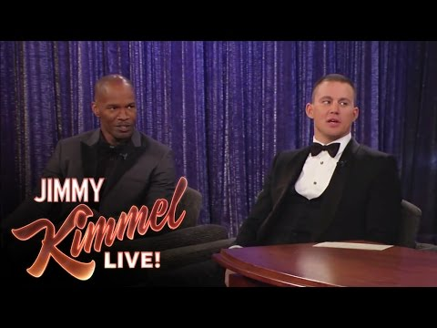 Channing Tatum and Jamie Foxx on Jimmy Kimmel Live: After the Oscars PART 1