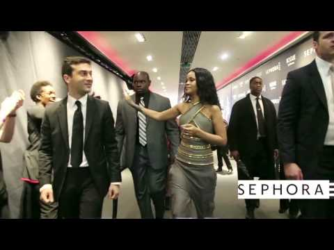 Rihanna Launch ROGUE at Sephora in Paris