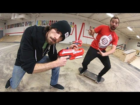 Nerf Attack Game of S.K.A.T.E. - Andy Schrock VS Alex Buening
