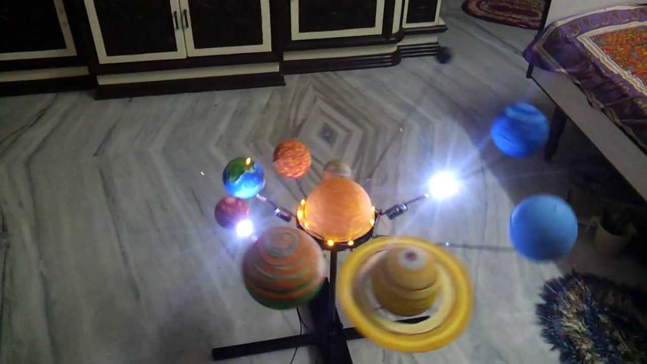 Model of Solar System For School Project Solar System Project Made by