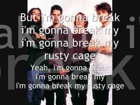 Soundgarden - Rusty Cage With Lyrics