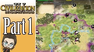 Civilization IV Beyond the Sword Gameplay: Rome - Part 1 - Let's Play Walkthrough