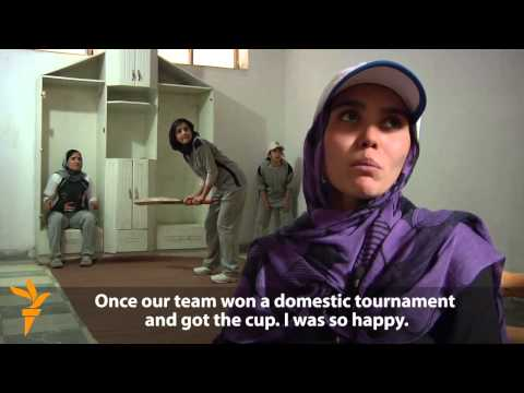 Afghan Women Fight For Place On Cricket Pitch