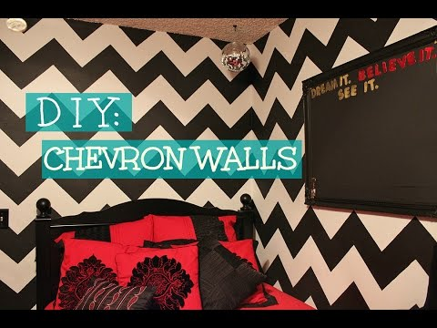 DIY: Chevron Walls - KinaaSmallss