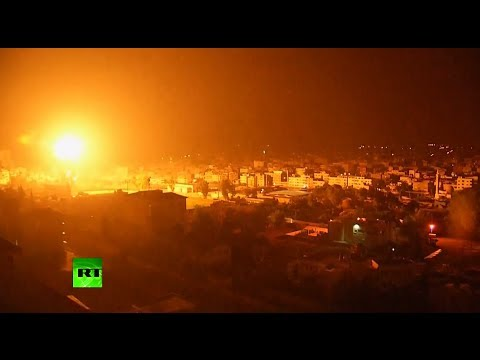 RAW: Large explosion rocks Gaza, Hamas fires rockets into Israel