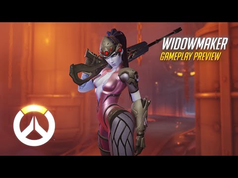 Widowmaker Gameplay Preview   Overwatch   1080p HD, 60 FPS